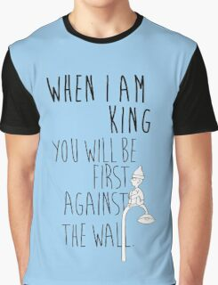 """When I am King, you will be first against the wall."" Radiohead - Dark Graphic T-Shirt"