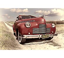 Red Chevrolet Photographic Print