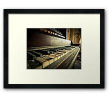 Broken Keys Framed Print