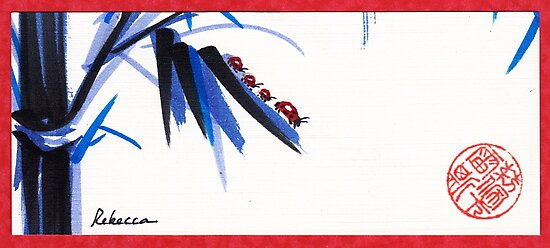 """""""Follow the Leader"""" - Ladybug mama and kids go for a walk by Rebecca Rees"""