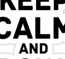 keep calm greydots Sticker