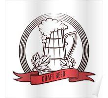 Craft Beer Print Design Template Poster