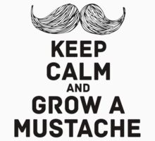 keep calm & mustache Kids Tee