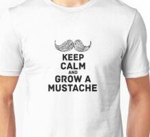 keep calm & mustache Unisex T-Shirt