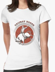 Cowboy Rodeo Emblem Womens Fitted T-Shirt