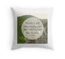 Inspirational Travel Quote Throw Pillow