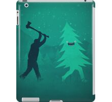 Funny Christmas Tree Hunted by lumberjack (Funny Humor) iPad Case/Skin