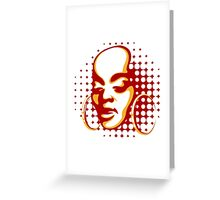 african woman face Greeting Card