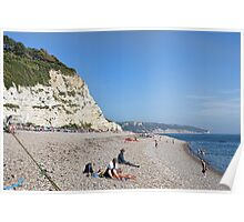 On The Beach At Beer, Devon. UK Poster