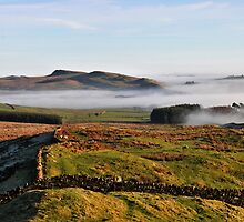 Hadrian's Wall Path over Cockmount by Joan Thirlaway