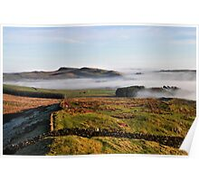 Hadrian's Wall Path over Cockmount Poster
