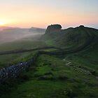 Hadrian's Wall on Cuddys Crag - c6 by Joan Thirlaway