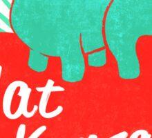 Flat Kansas Sticker
