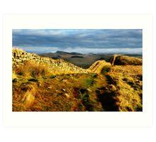 Hadrian's Wall on Hotbank Crag - C11 Art Print