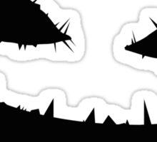 Scary Pumpkin Face Sticker