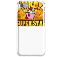 Kirby Super Star (SNES) Title Screen iPhone Case/Skin