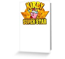 Kirby Super Star (SNES) Title Screen Greeting Card