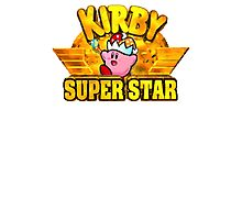 Kirby Super Star (SNES) Title Screen Photographic Print
