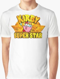 Kirby Super Star (SNES) Title Screen Graphic T-Shirt