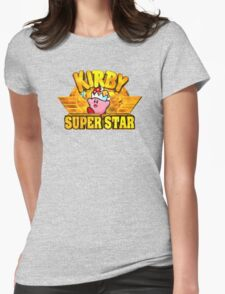 Kirby Super Star (SNES) Title Screen Womens Fitted T-Shirt