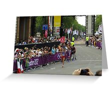 London 2012 Olympics Marathon - Cheering every one of them Greeting Card