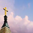 Cross on Steeple by Kenneth Keifer