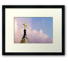 Cross on Steeple Framed Print