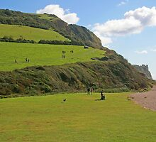 Branscombe Mouth by RedHillDigital