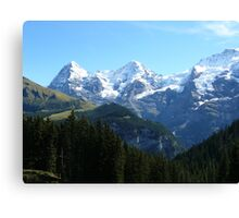 A trio of Swiss mountains Canvas Print
