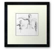Anurognath Muscle Study Framed Print