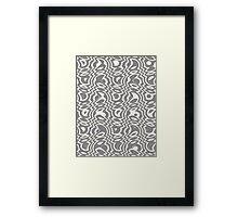 Gray & Ivory Tumble Framed Print