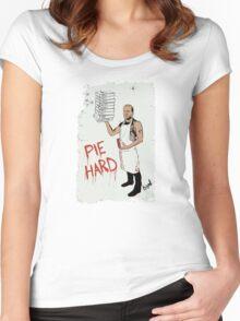 Pie Hard by Hanksy Women's Fitted Scoop T-Shirt