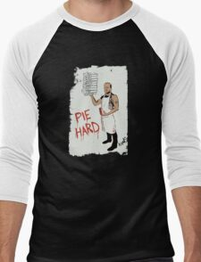 Pie Hard by Hanksy Men's Baseball ¾ T-Shirt