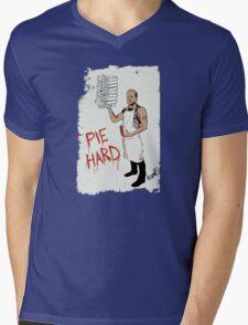 Pie Hard by Hanksy Mens V-Neck T-Shirt