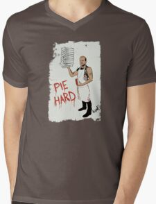 Pie Hard by Hanksy Mens V-Neck T-Shirt
