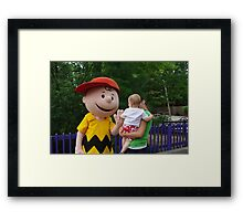 High Five with Charlie Brown Framed Print