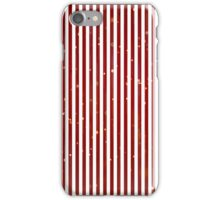 Vintage Chistmas red white faux glitter stripes  iPhone Case/Skin
