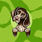 German Shorthaired Pointer Green Camouflage by offleashart