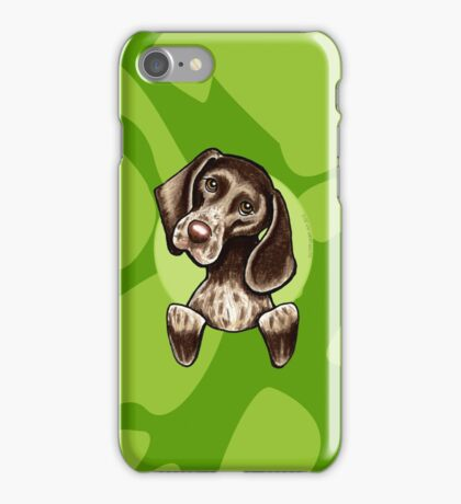 German Shorthaired Pointer Green Camouflage iPhone Case/Skin