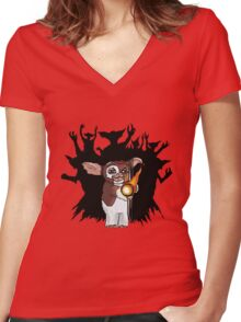 Gizmo the Badass Women's Fitted V-Neck T-Shirt