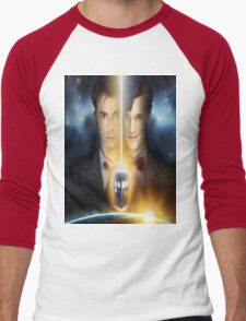 doctor who timelords 10 and 11 Split Men's Baseball ¾ T-Shirt
