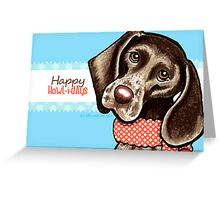 Christmas Blues GSP Happy Howlidays Greeting Card