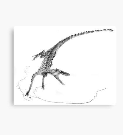 Hesperosuchus Speed Turn Canvas Print