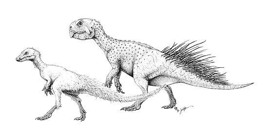 Ornithischians, Enquilled by Jaime Headden