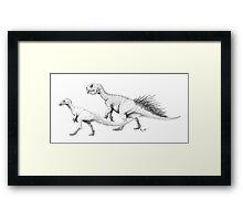 Ornithischians, Enquilled Framed Print