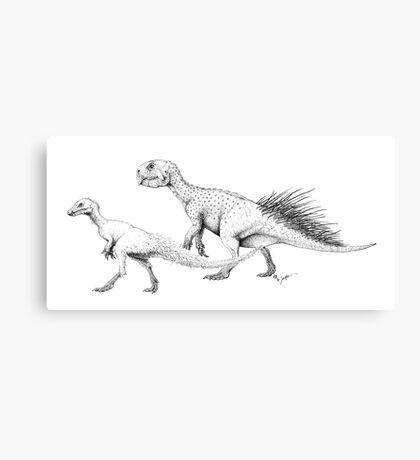 Ornithischians, Enquilled Canvas Print