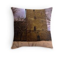 South Queensferry Priory Throw Pillow