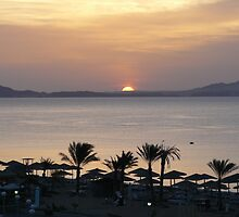 Sunrise over the Red Sea by davidwatterson