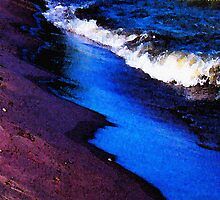 Lake Erie Abstract by SRowe Art