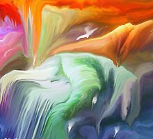 Flowing- Abstract- 26/wall art + IPhone Cases + iPad Cases by haya1812
